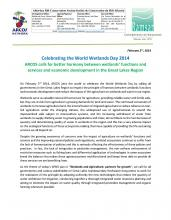 World Wetlands Day 2014 ARCOS Release