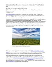 World Wetlands Day 2014 IPPC Statement