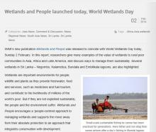World Wetlands Day 2014 IWMI Article